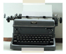 I wrote my first novel on this typewriter when I was 15