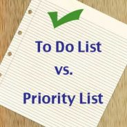 Priority vs. To Do List