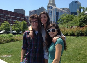 Zach, Rayanne, Jesse in Boston (July 2012)