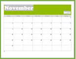 2014 Nov Calendar